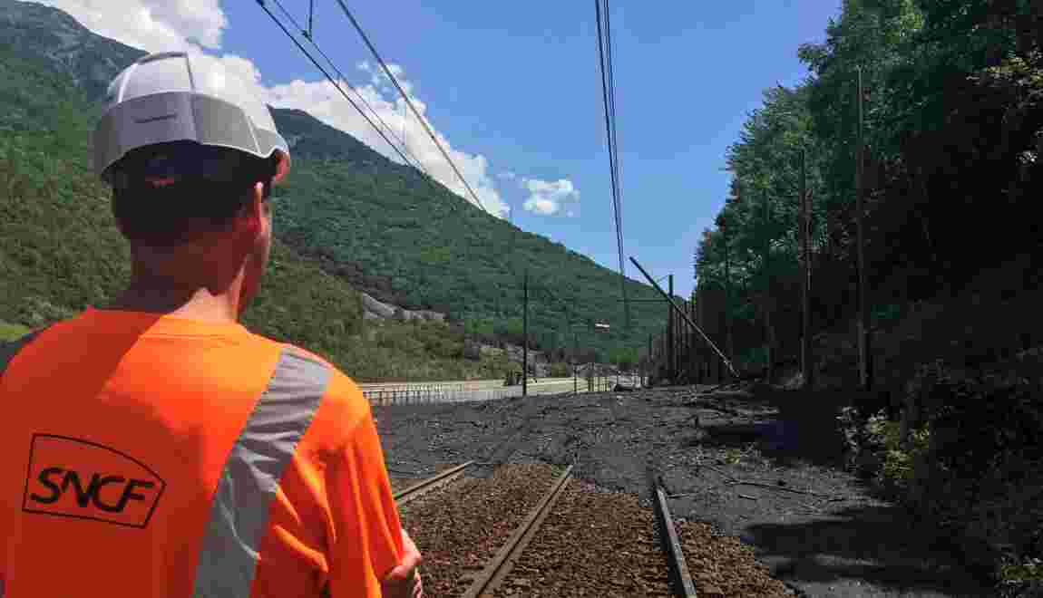 """Orages : la ligne TGV France-Italie via Modane coupée """"jusqu'au 31 juillet"""""""
