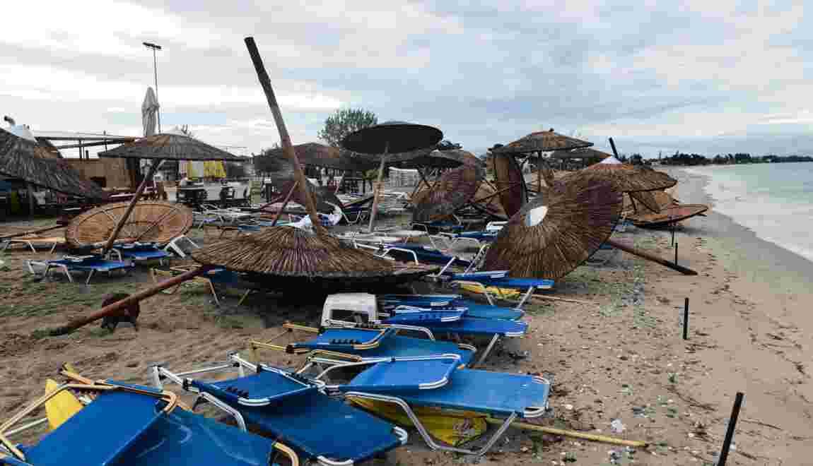 Une violente tornade s'abat en Grèce en pleine région touristique: sept morts