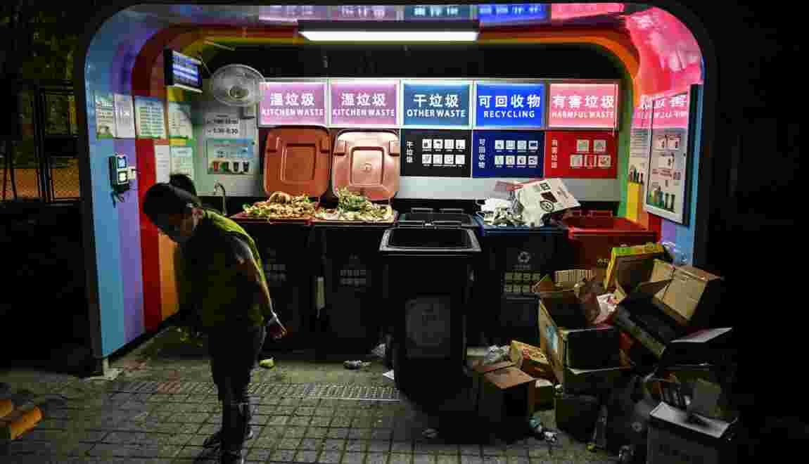 """Shanghai inaugure la """"bataille"""" du tri des déchets en Chine"""