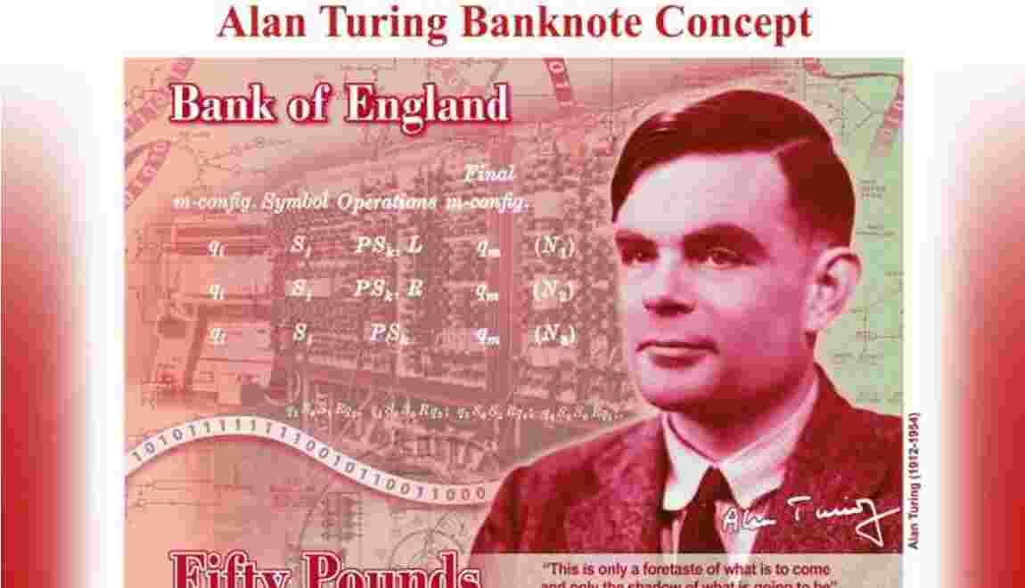 67 ans après l'avoir condamné pour homosexualité, l'Angleterre choisit Alan Turing pour figurer sur les billets 50 £