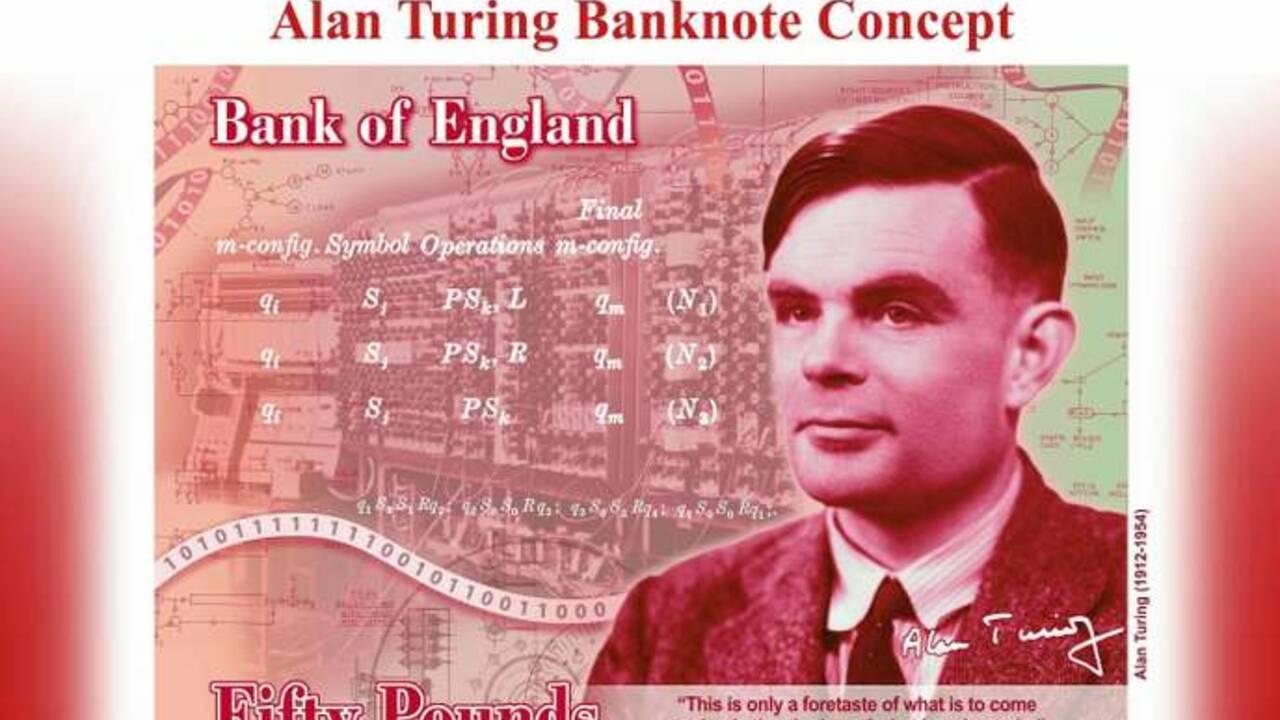 69 ans après l'avoir condamné pour homosexualité, l'Angleterre choisit Alan Turing pour figurer sur les billets de 50 £