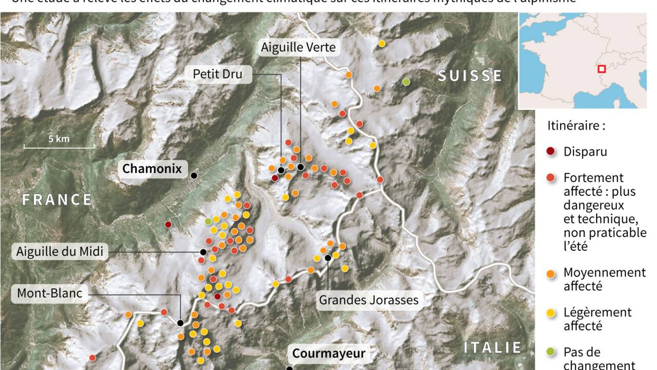 """Mont Blanc: ce qu'il reste des """"100 plus belles courses"""""""