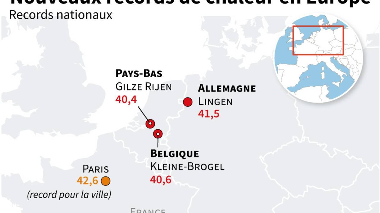 Canicule sur l'Europe occidentale : la journée des records