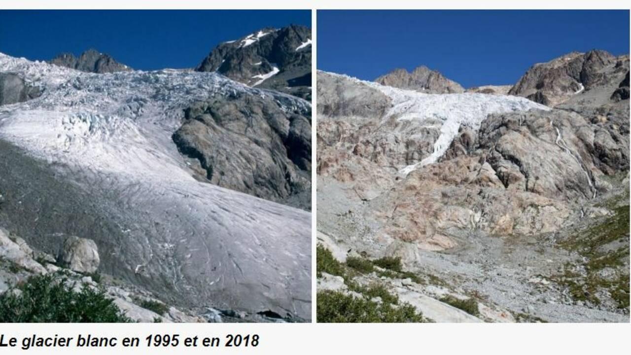 Hautes-Alpes : ainsi fond fond fond... le glacier Blanc des Ecrins