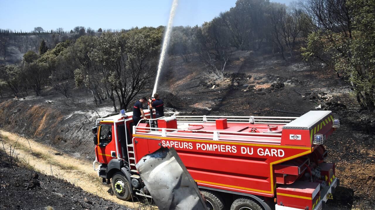 Incendie dans le Gard: de légères reprises de feu maîtrisées