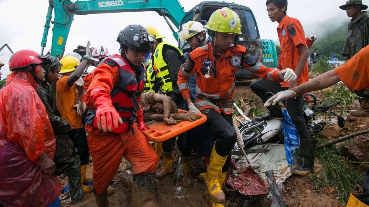 Glissement de terrain en Birmanie: au moins 41 morts, des dizaines de disparus