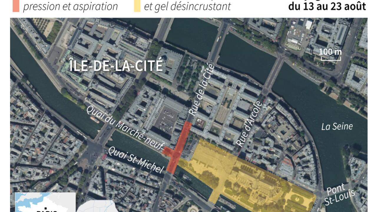Plomb de Notre-Dame: la décontamination du quartier démarre