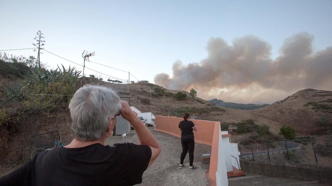 Nouvel incendie et évacuations sur l'île de Grande Canarie