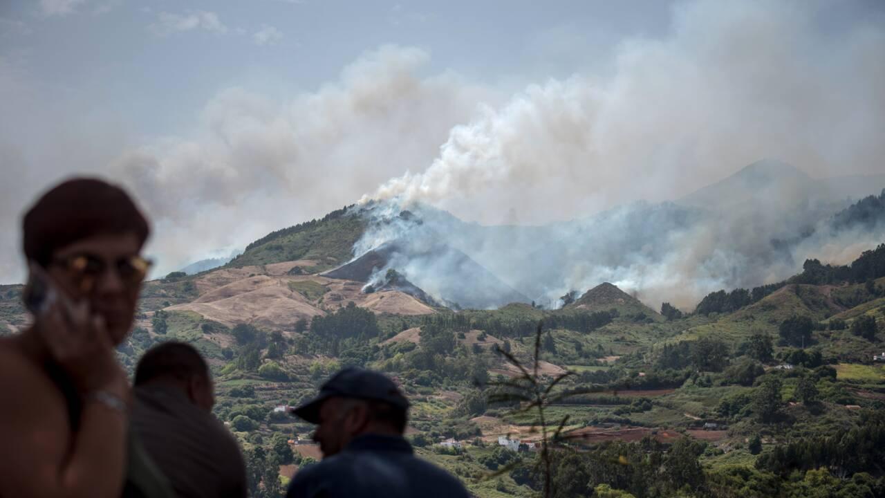 Violent incendie sur l'île de Grande Canarie, 5.000 personnes évacuées