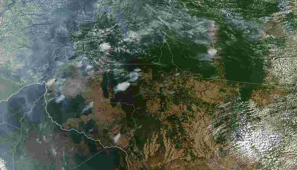 Brésil: Bolsonaro insinue que des ONG sont responsables des incendies en Amazonie