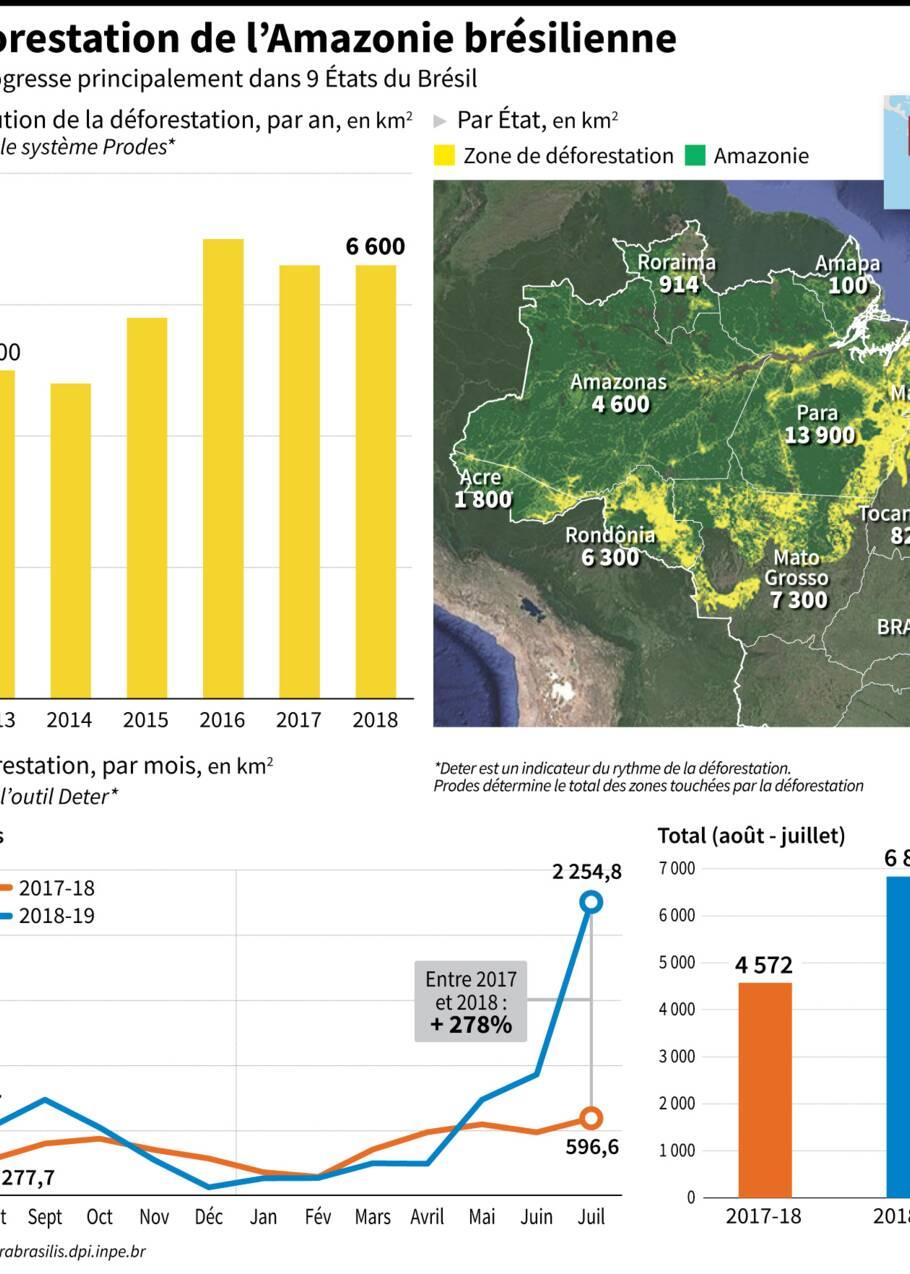 Feux en Amazonie, pluie grise et particules fines à Sao Paulo