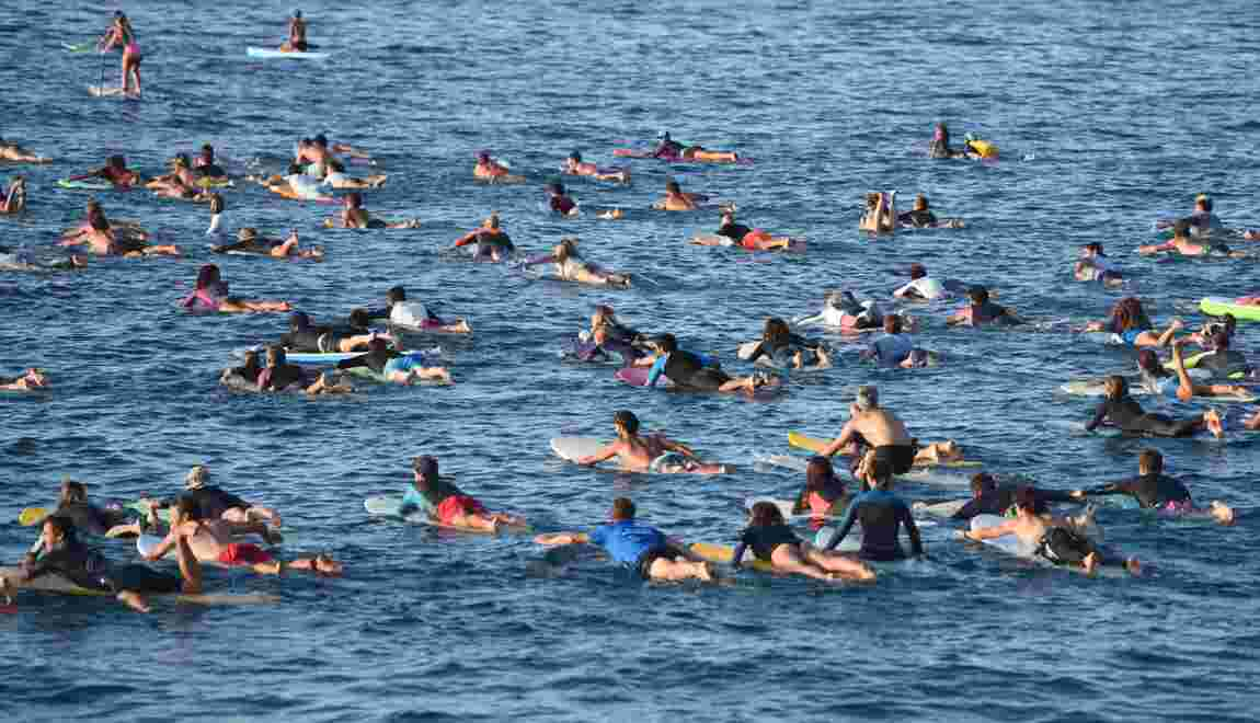 G7: à Biarritz, paradis de la vague, les surfeurs se mobilisent pour l'océan
