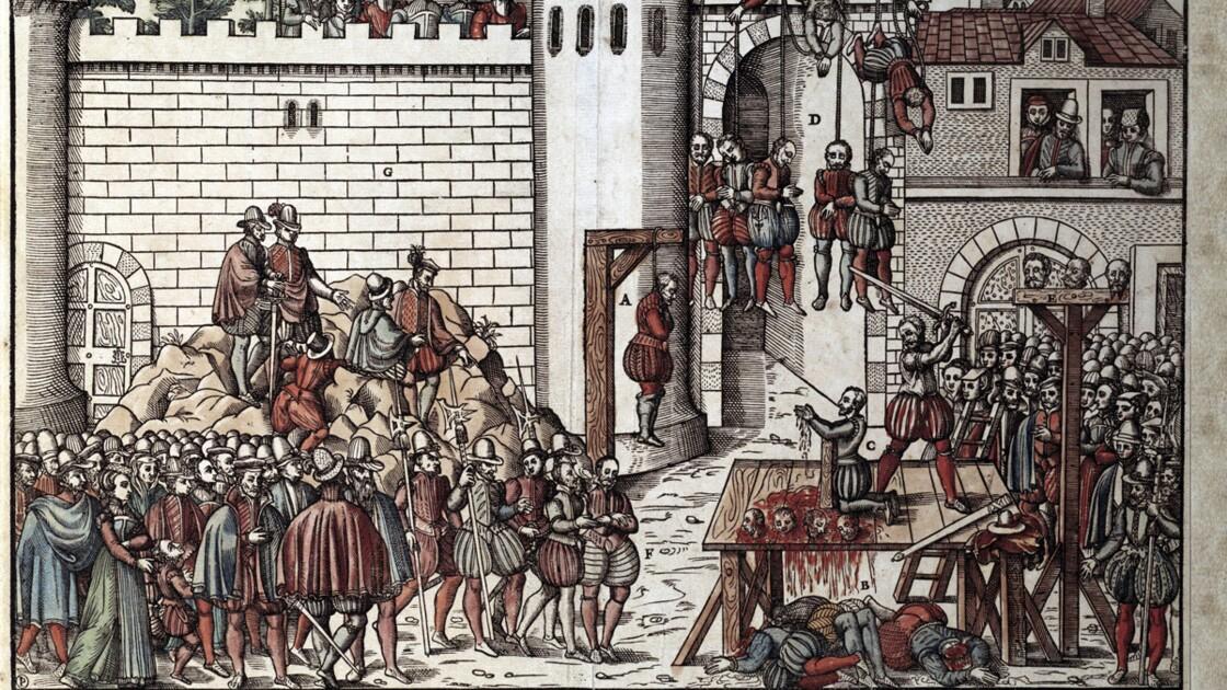 Amboise, le balcon des pendus : l'impitoyable répression des conjurés protestants