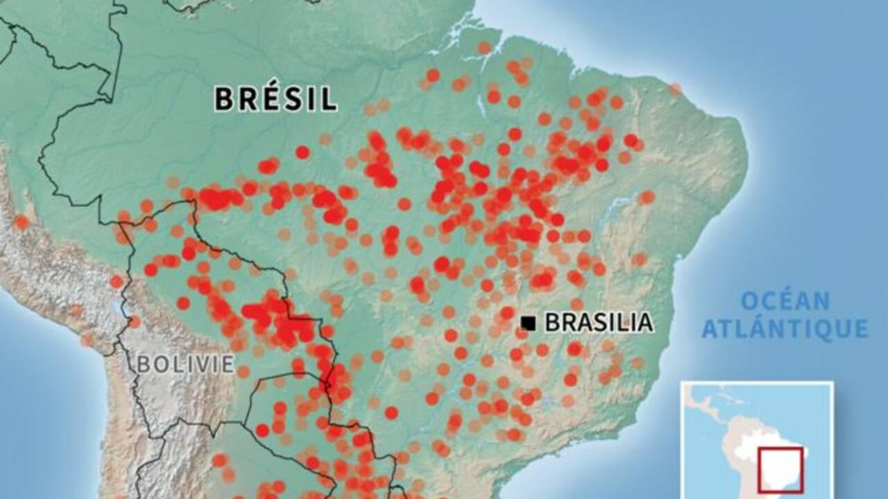 Amazonie en flammes : la France et l'ONU sonnent l'alarme