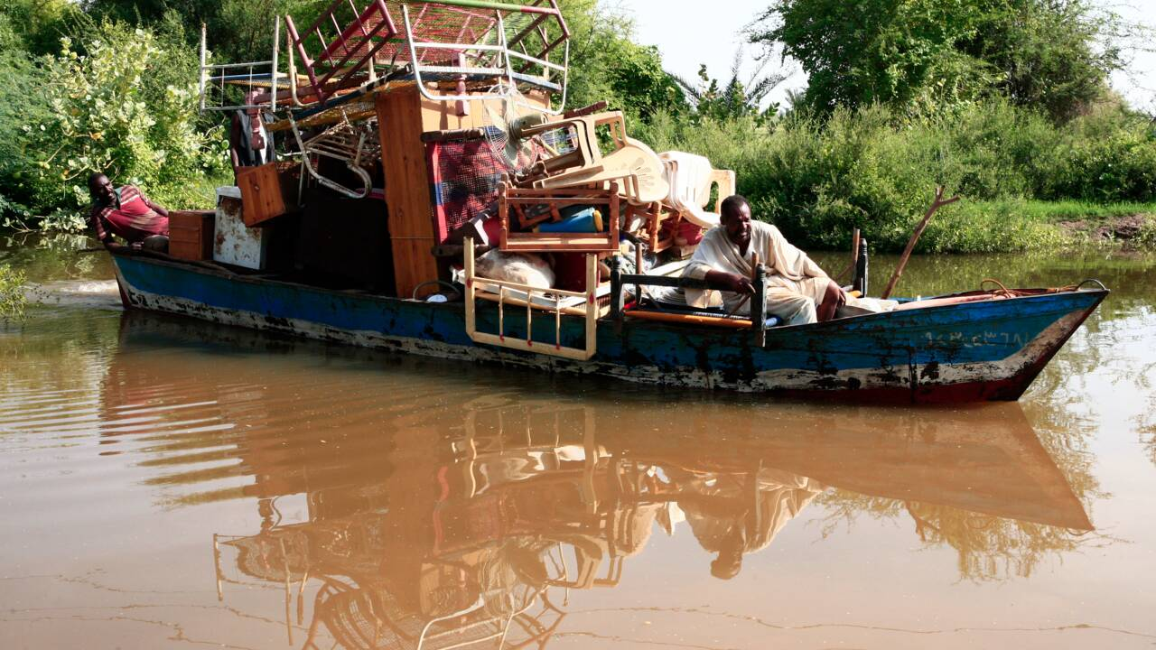 Au Soudan, des villageois frappés par les inondations du Nil