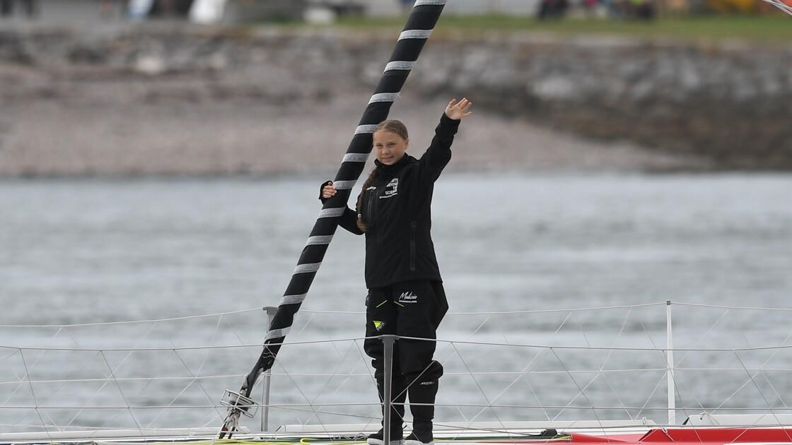 Greta Thunberg attendue à New York après sa traversée de l'Atlantique