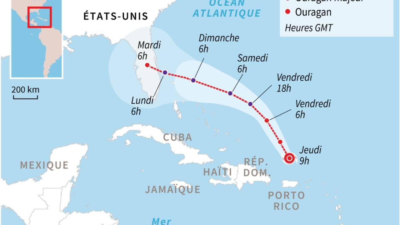 L'ouragan Dorian se renforce et menace la Floride
