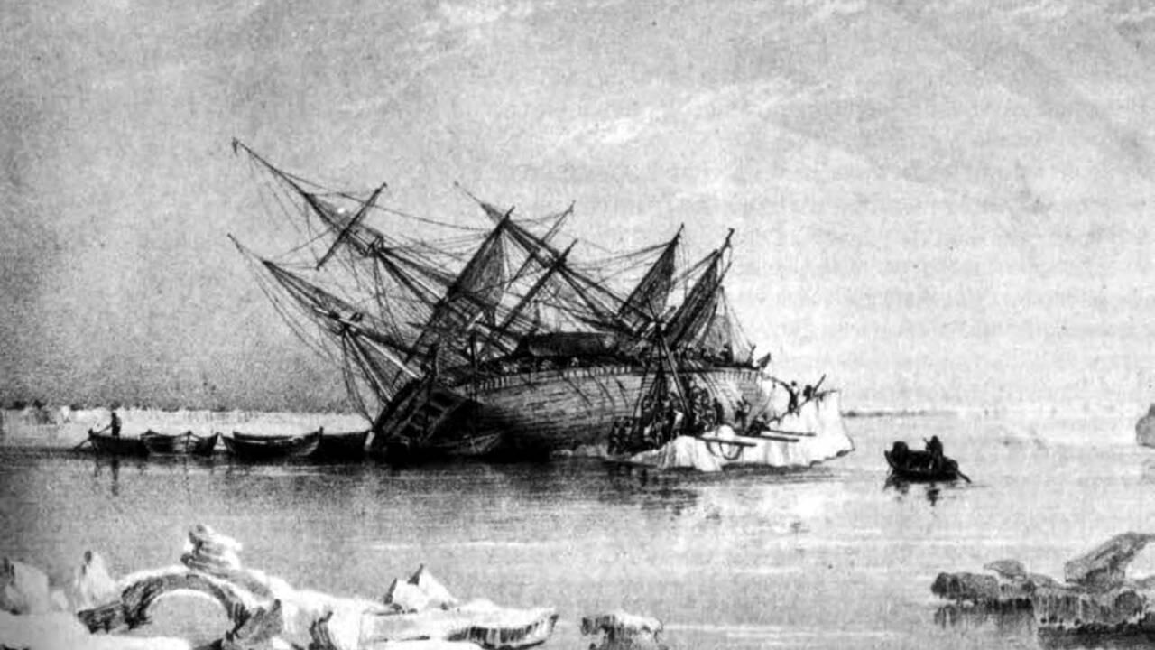 Une équipe révèle des images inédites d'une épave engloutie dans l'Arctique depuis 170 ans