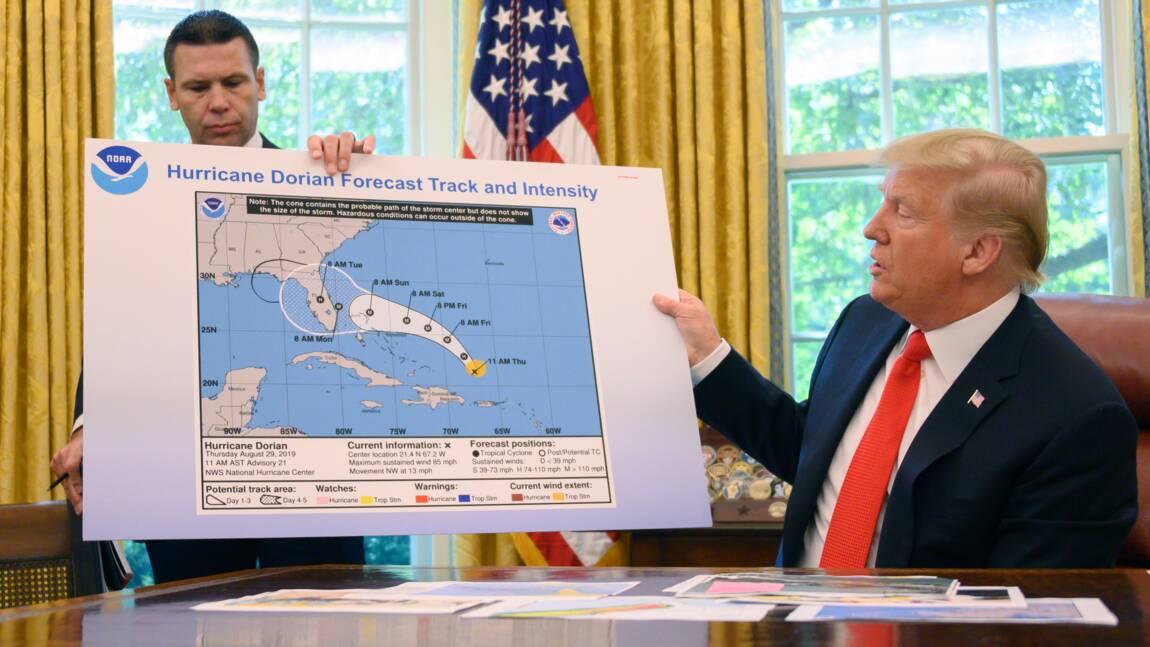 Trump, l'Alabama et le coup de crayon sur la carte de Dorian