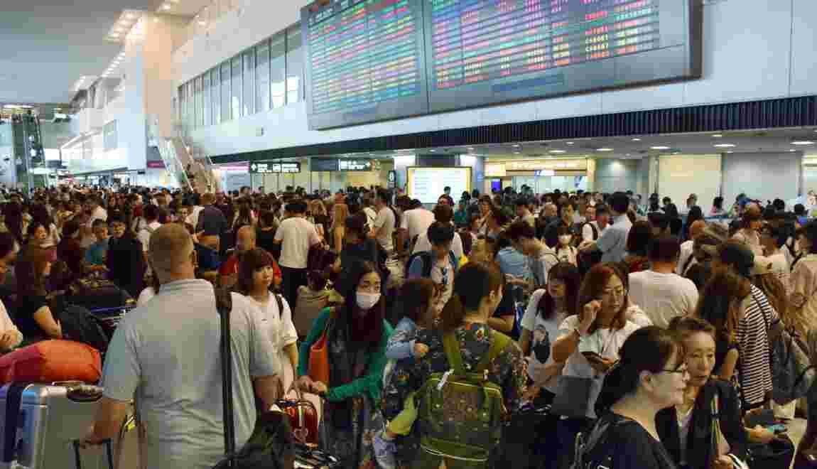 Typhon: 17.000 personnes bloquées des heures à l'aéroport de Tokyo-Narita