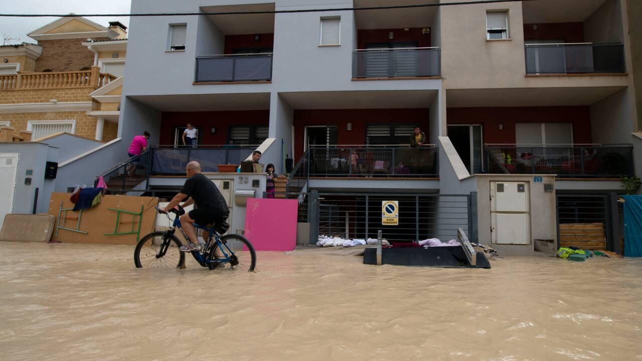 Espagne : cinq morts en deux jours dans des inondations