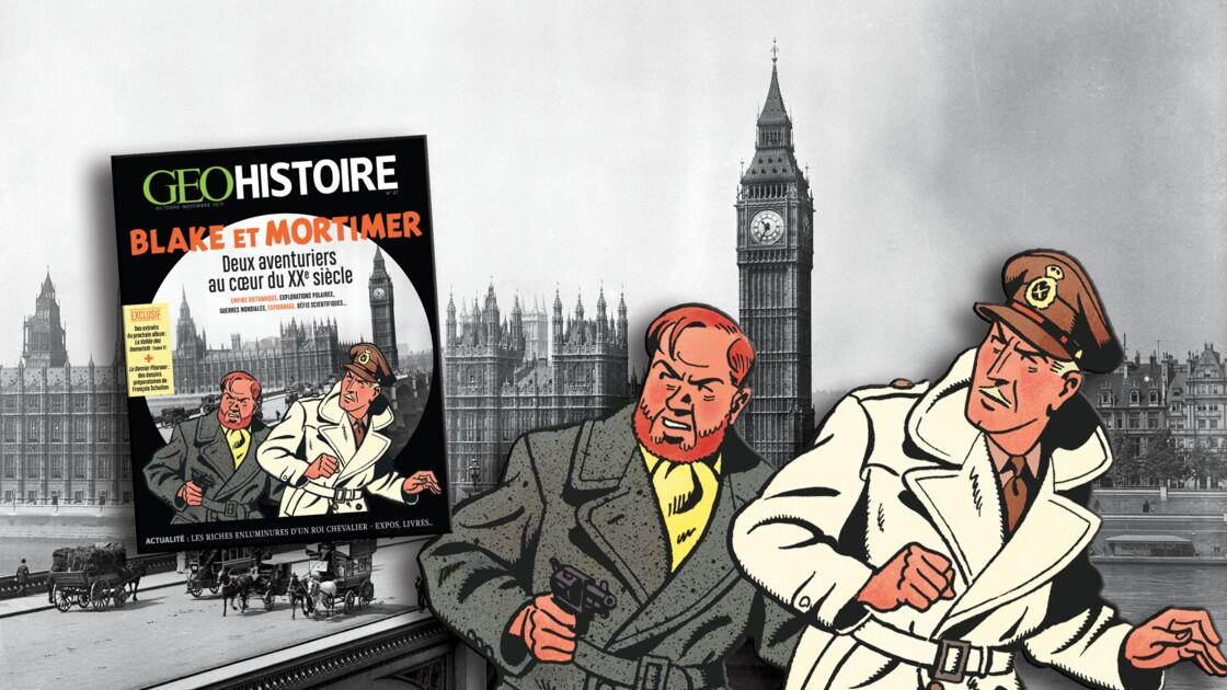 Blake et Mortimer : deux aventuriers au cœur du XXe siècle dans le nouveau GEO Histoire