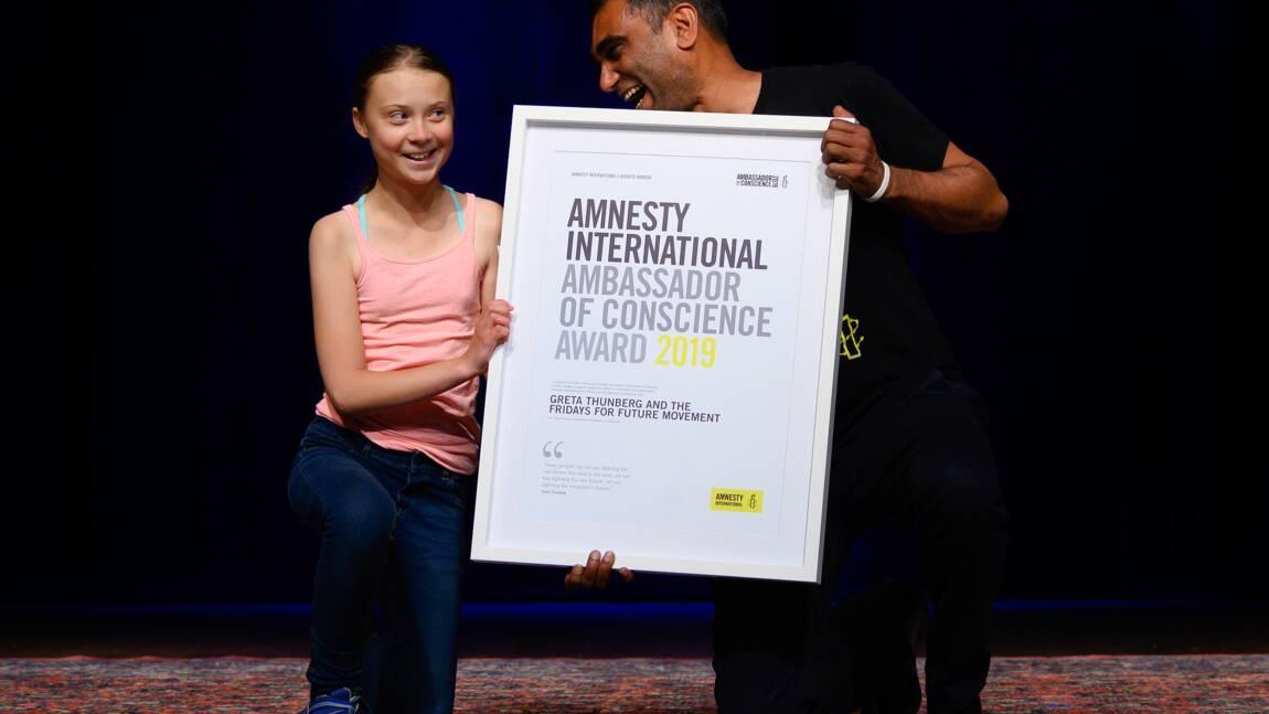 "Greta Thunberg ""ambassadrice de conscience"" d'Amnesty International"