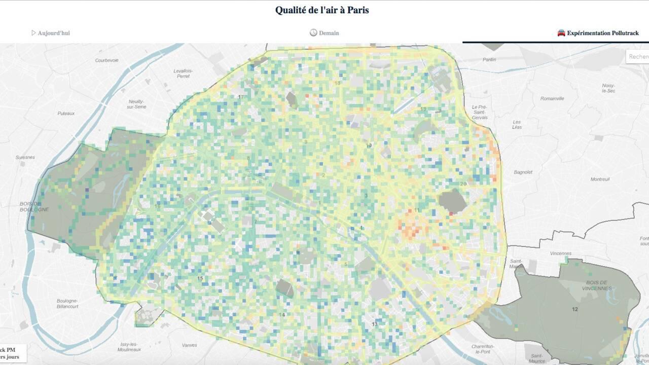 Paris lance une carte interactive qui dévoile en temps réel la pollution de l'air dans la capitale