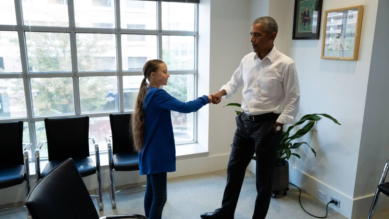 Greta Thunberg rencontre Barack Obama à Washington