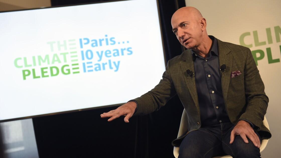 Bezos promet qu'Amazon aidera à accélérer la lutte contre le changement climatique