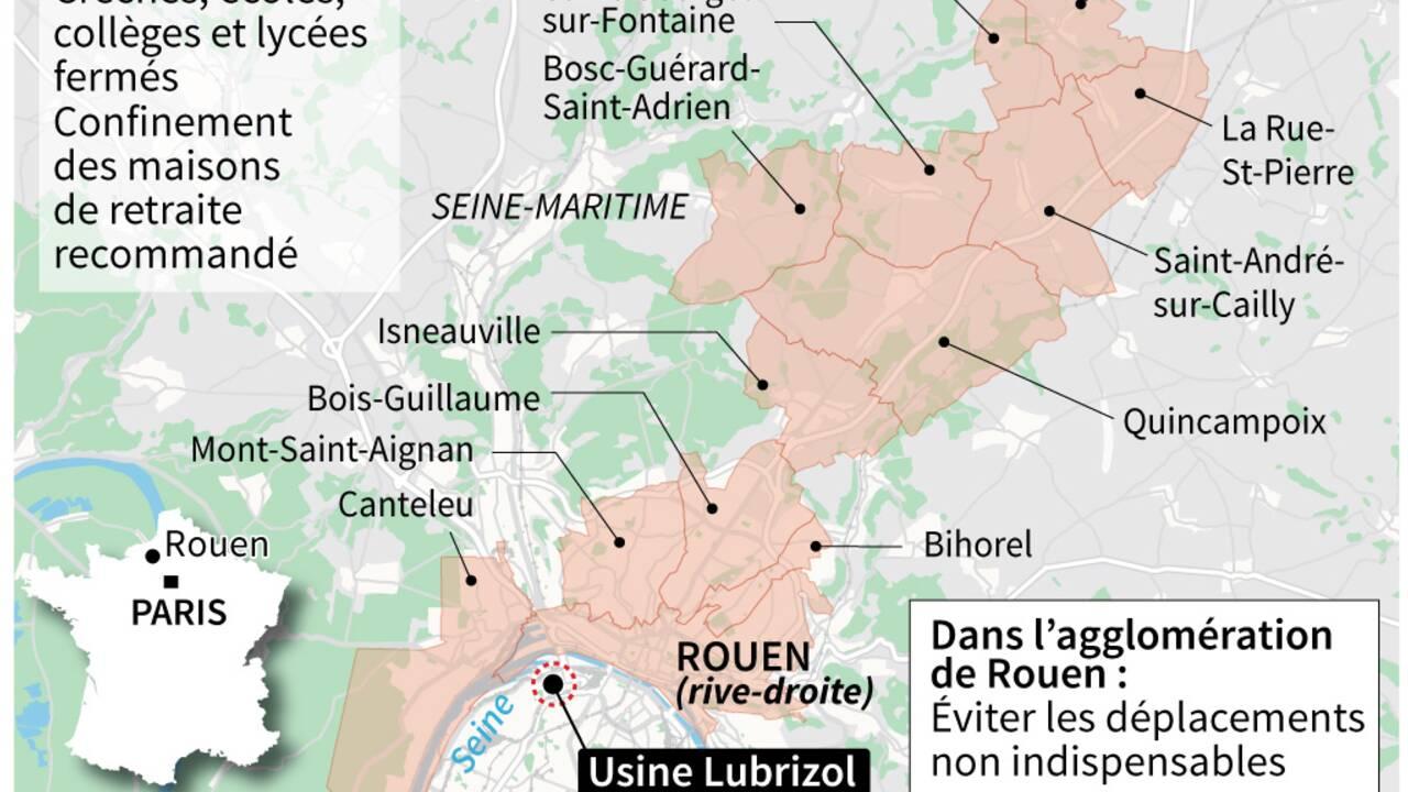 Incendie de Lubrizol à Rouen: le feu est éteint