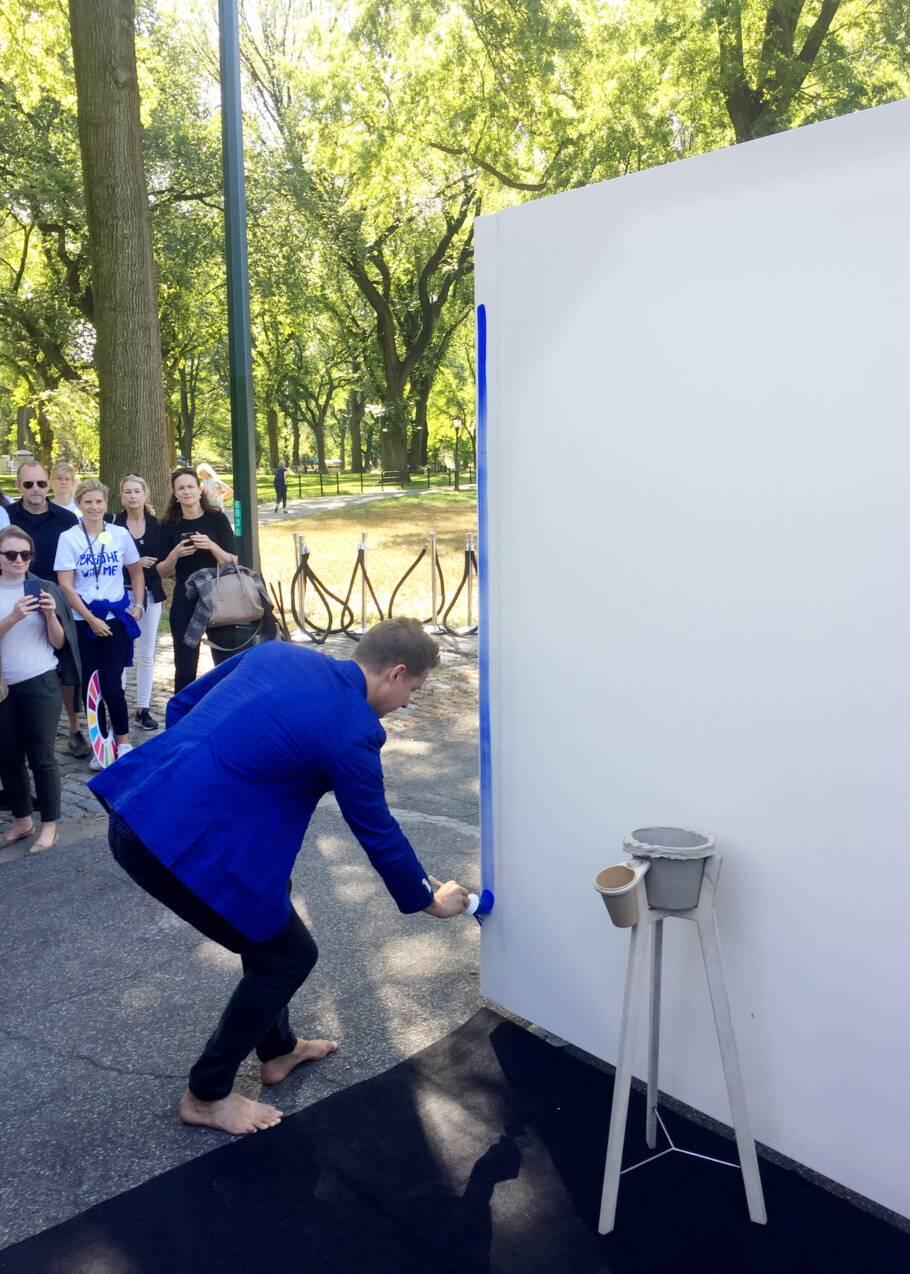 A Central Park, des milliers de coups de pinceau pour le climat