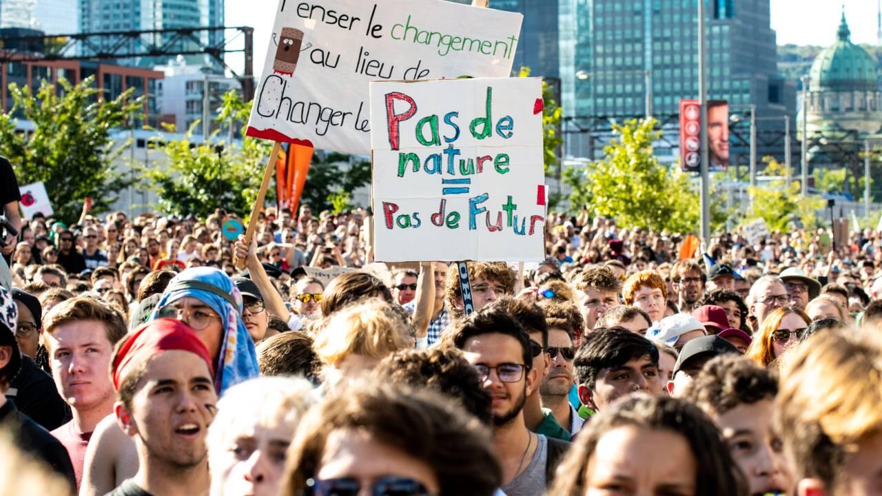 """A Montréal, marée humaine pour un défilé """"historique"""" avec Greta Thunberg"""