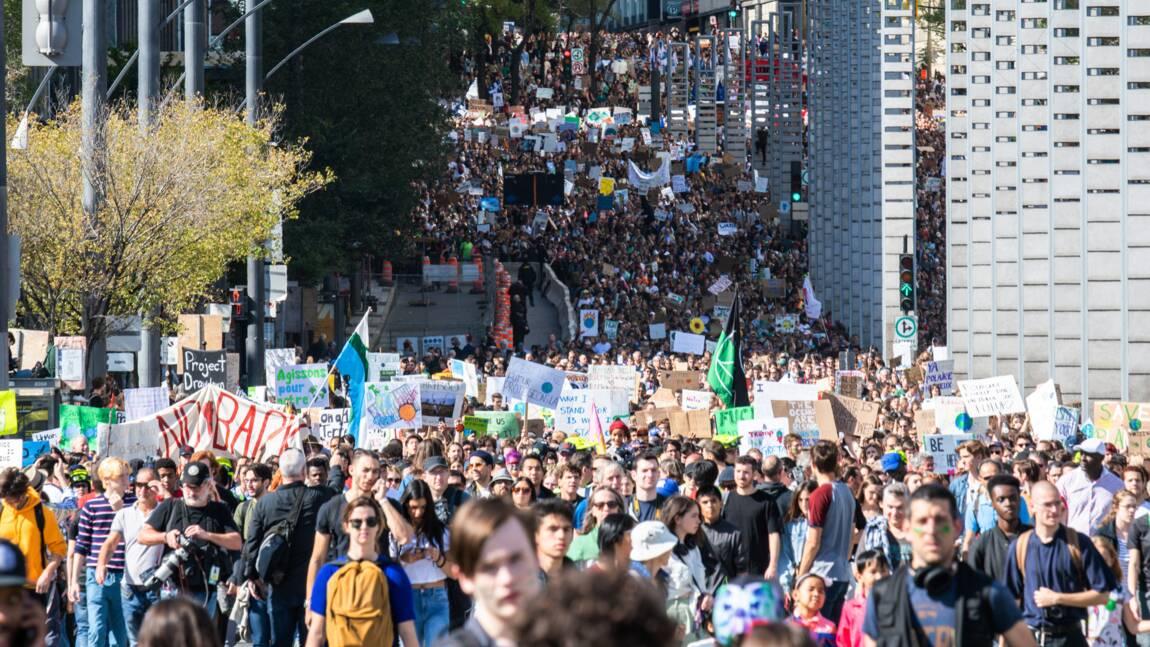Près de 500.000 personnes ont manifesté à Montréal avec Greta Thunberg