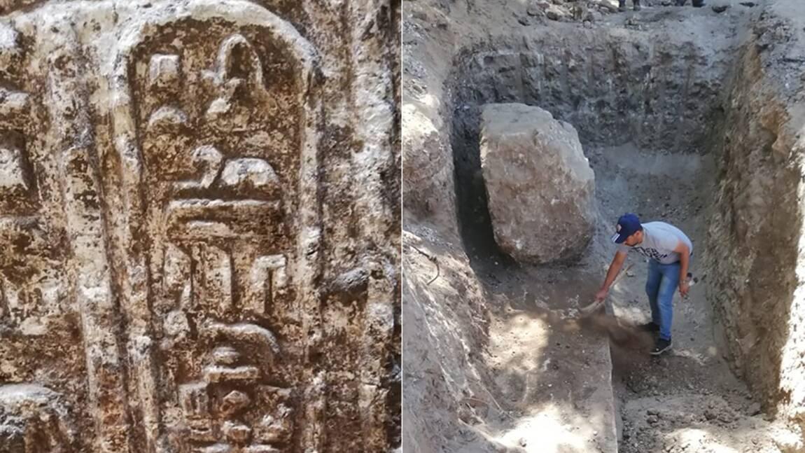 Les ruines d'un temple vieux de 2200 ans découvertes par hasard en Egypte