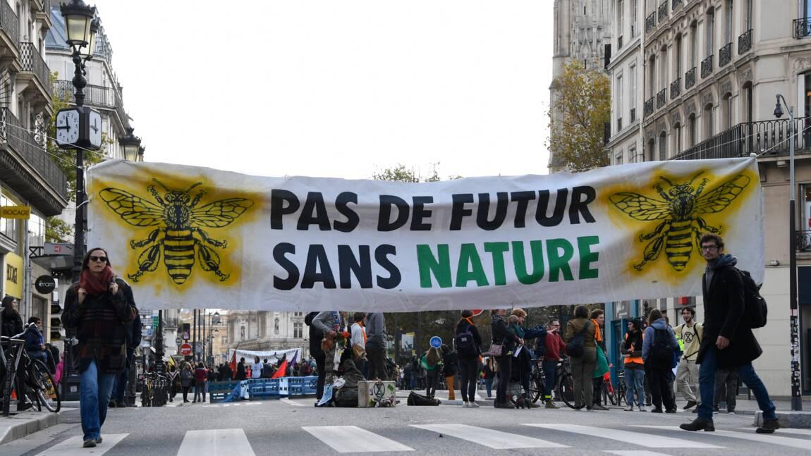 """A Paris, les """"XR"""" déterminés à tenir le pavé"""