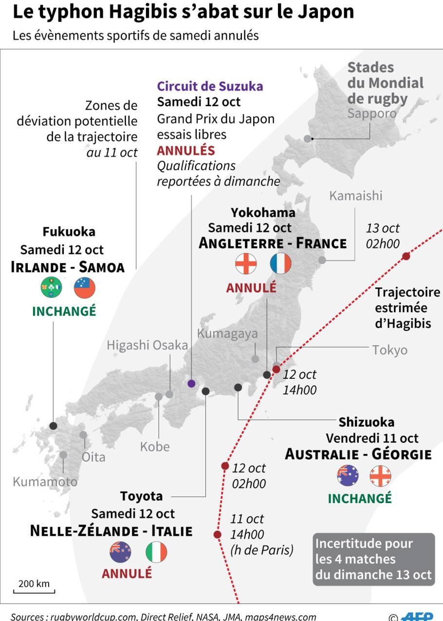 Le puissant typhon Hagibis s'apprête à déferler sur le Japon