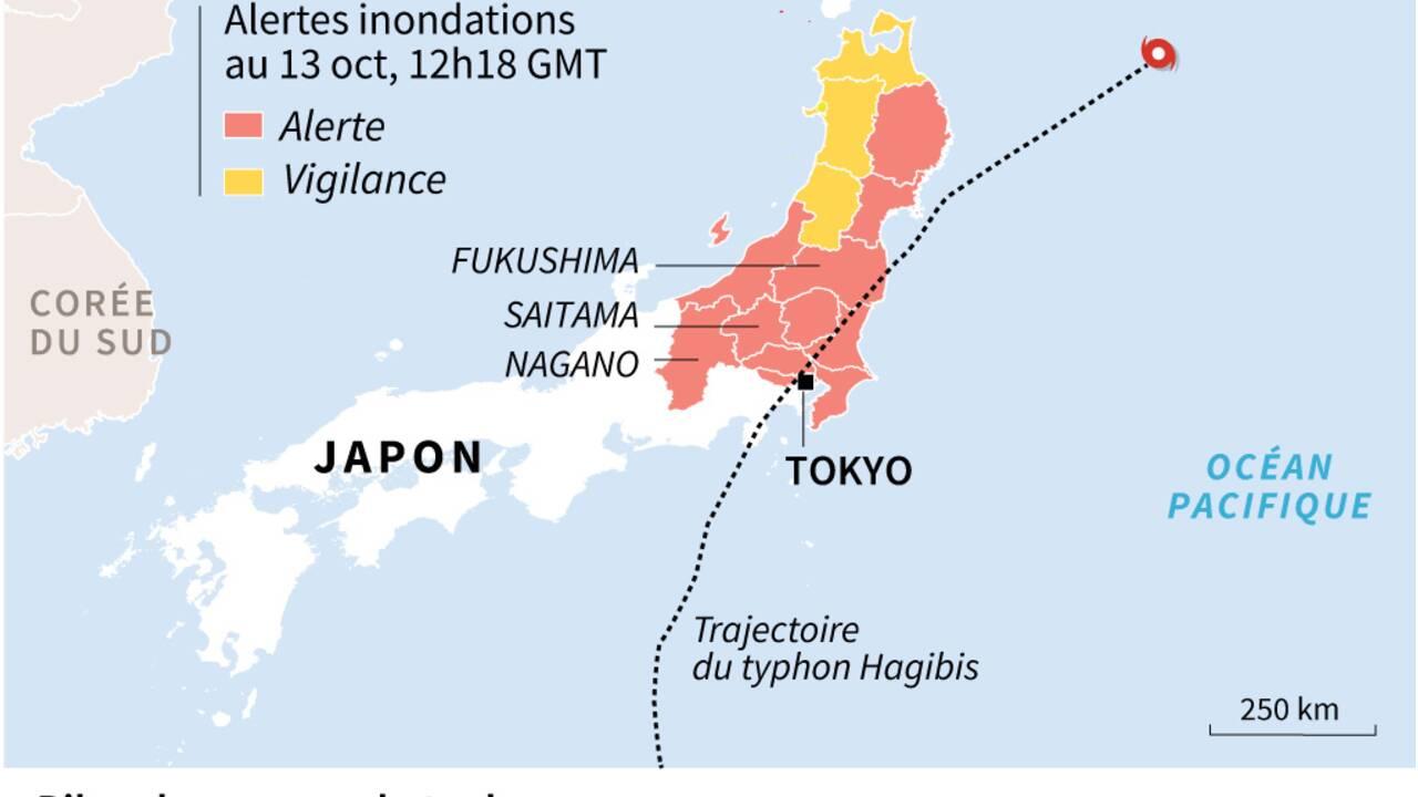 Typhon Hagibis: au moins 35 morts au Japon, 110.000 secouristes mobilisés