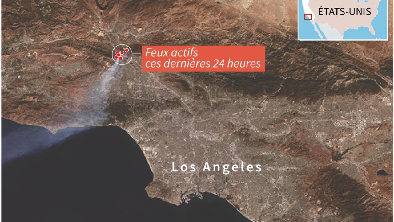 Incendies près de Los Angeles: deux morts, 100.000 évacuations