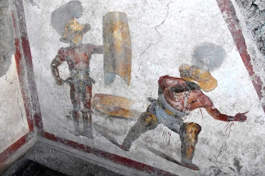 Une nouvelle fresque révélée à Pompéi
