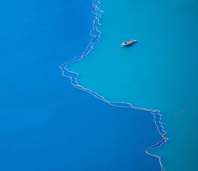 Ligne d'eau au large de Bergen, en Norvège