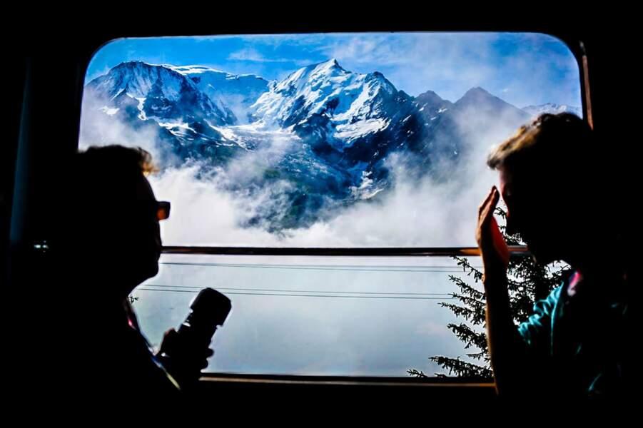 Fenêtre sur le mont Blanc