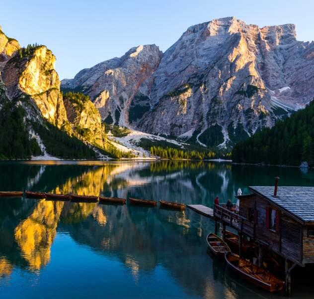 Carte postale des Dolomites