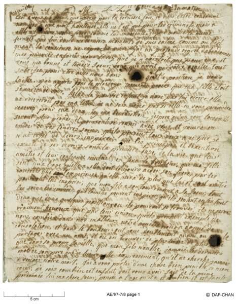Dernière lettre de Marie-Antoinette à Madame Elizabeth
