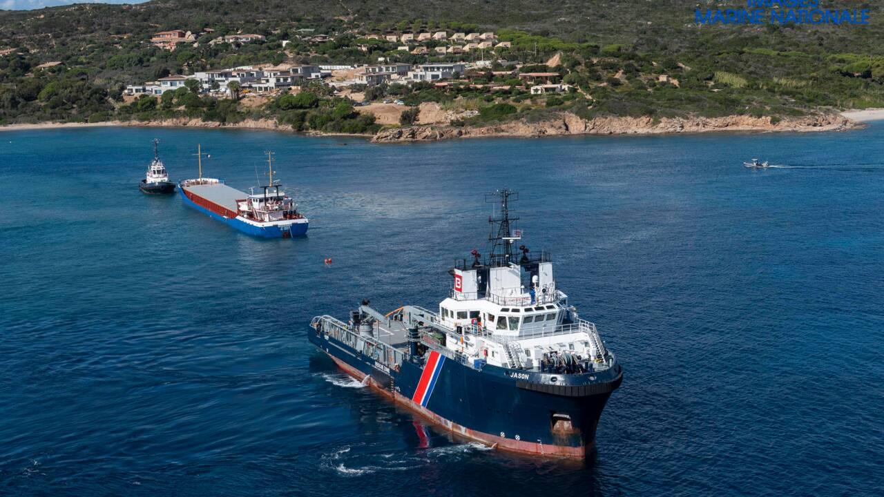 Le cargo coincé au large de Bonifacio a été dégagé annonce la préfecture maritime