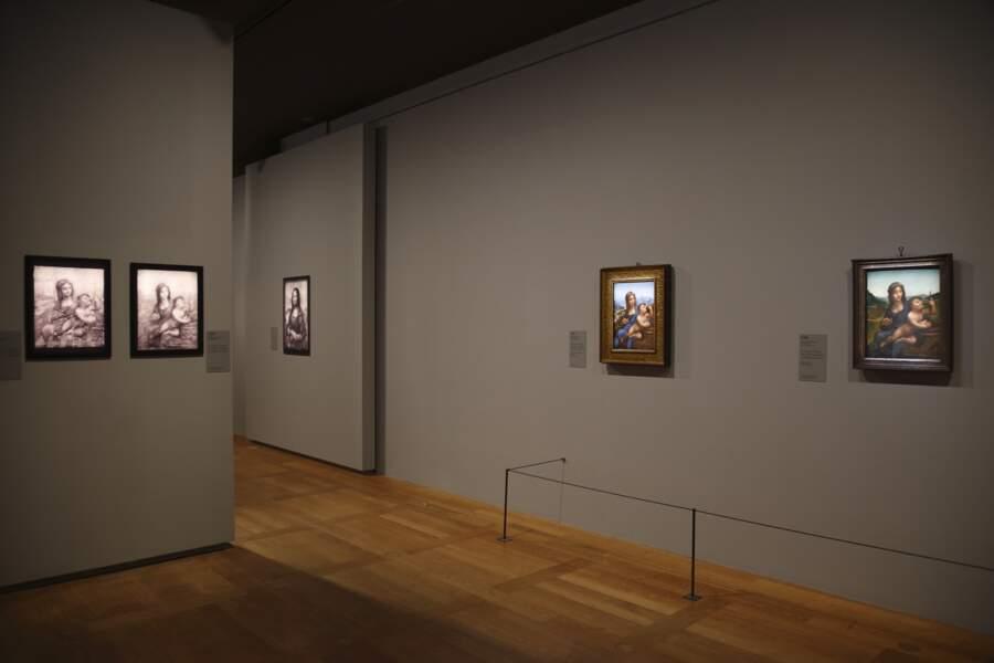 """Deux versions """"Léonard et atelier"""" de la Vierge au fuseau"""