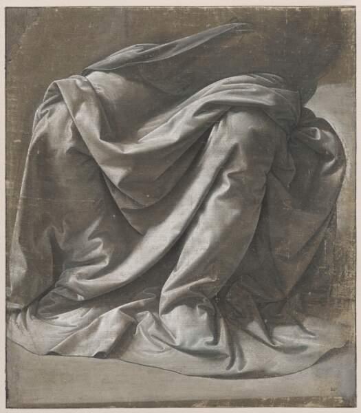 Draperie Saint-Morys pour une figure assise, vers 1475-1482
