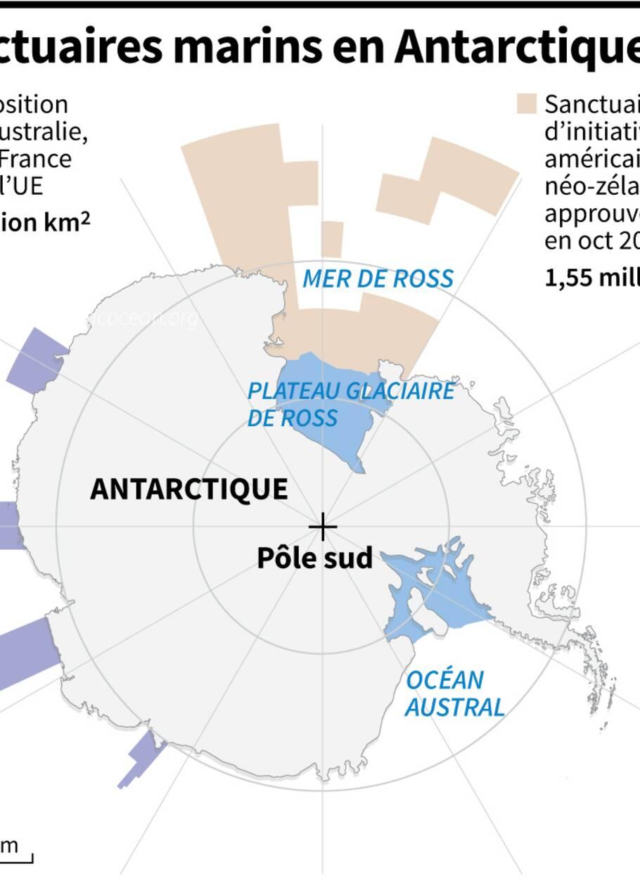 Antarctique: des menaces planent sur le projet de sanctuaire marin