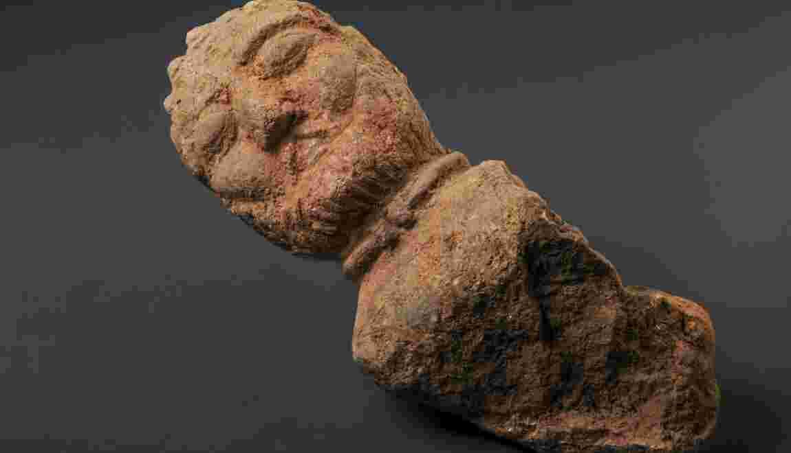Quatre sculptures gauloises découvertes en Bretagne