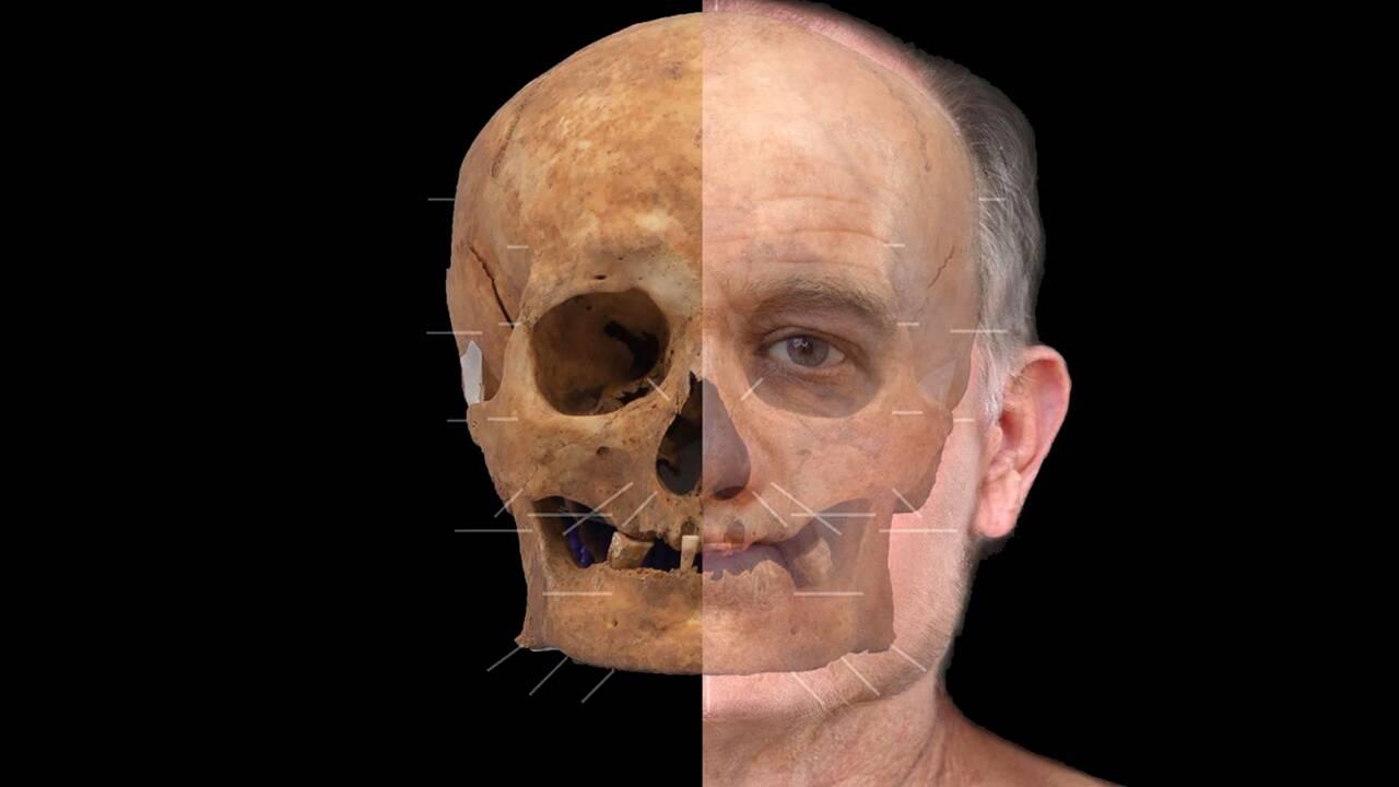 Des archéologues reconstruisent le visage d'un homme mort en Ecosse il y a plus de 600 ans